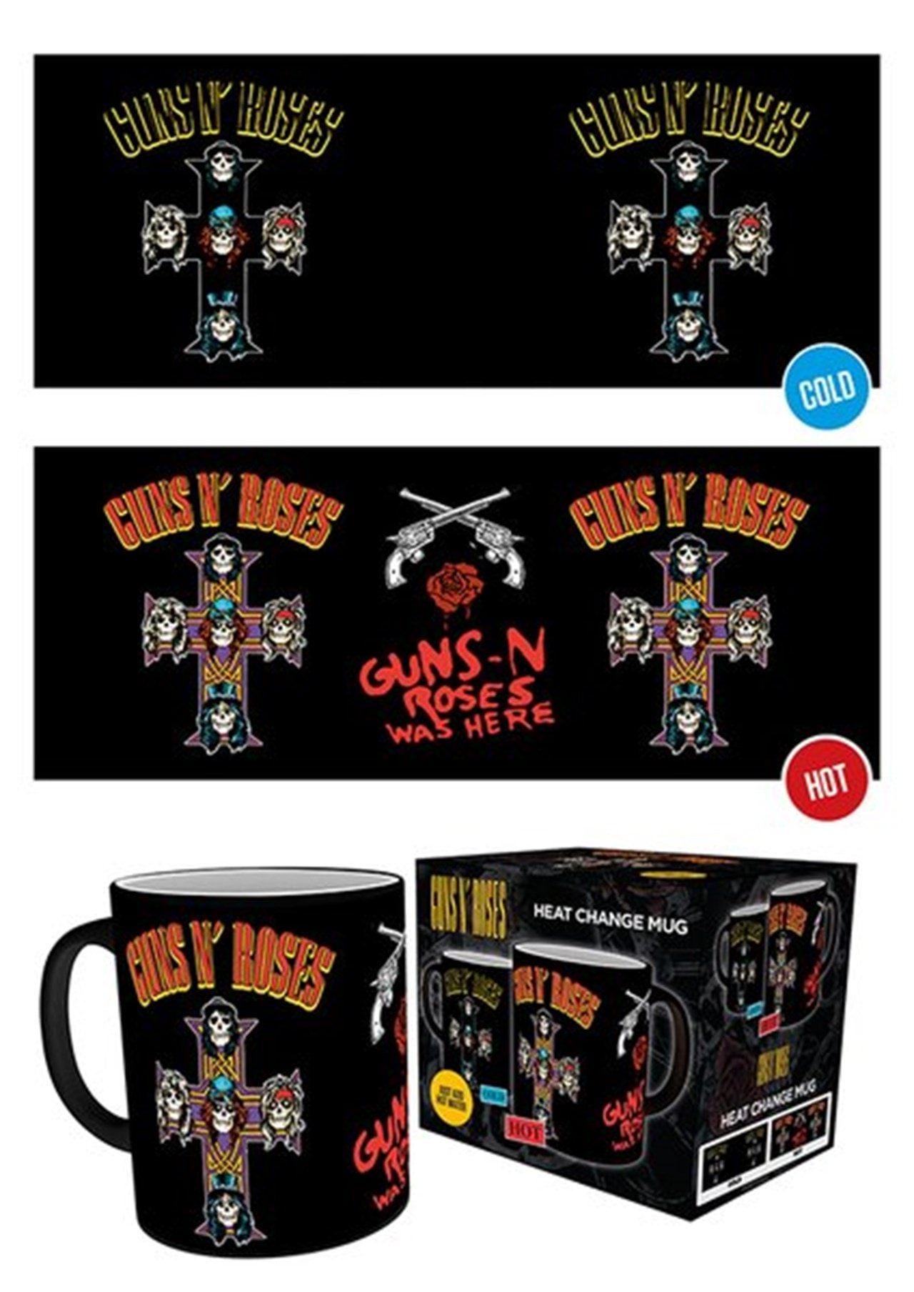 Guns N Roses Cross Heat Change Mug - 1