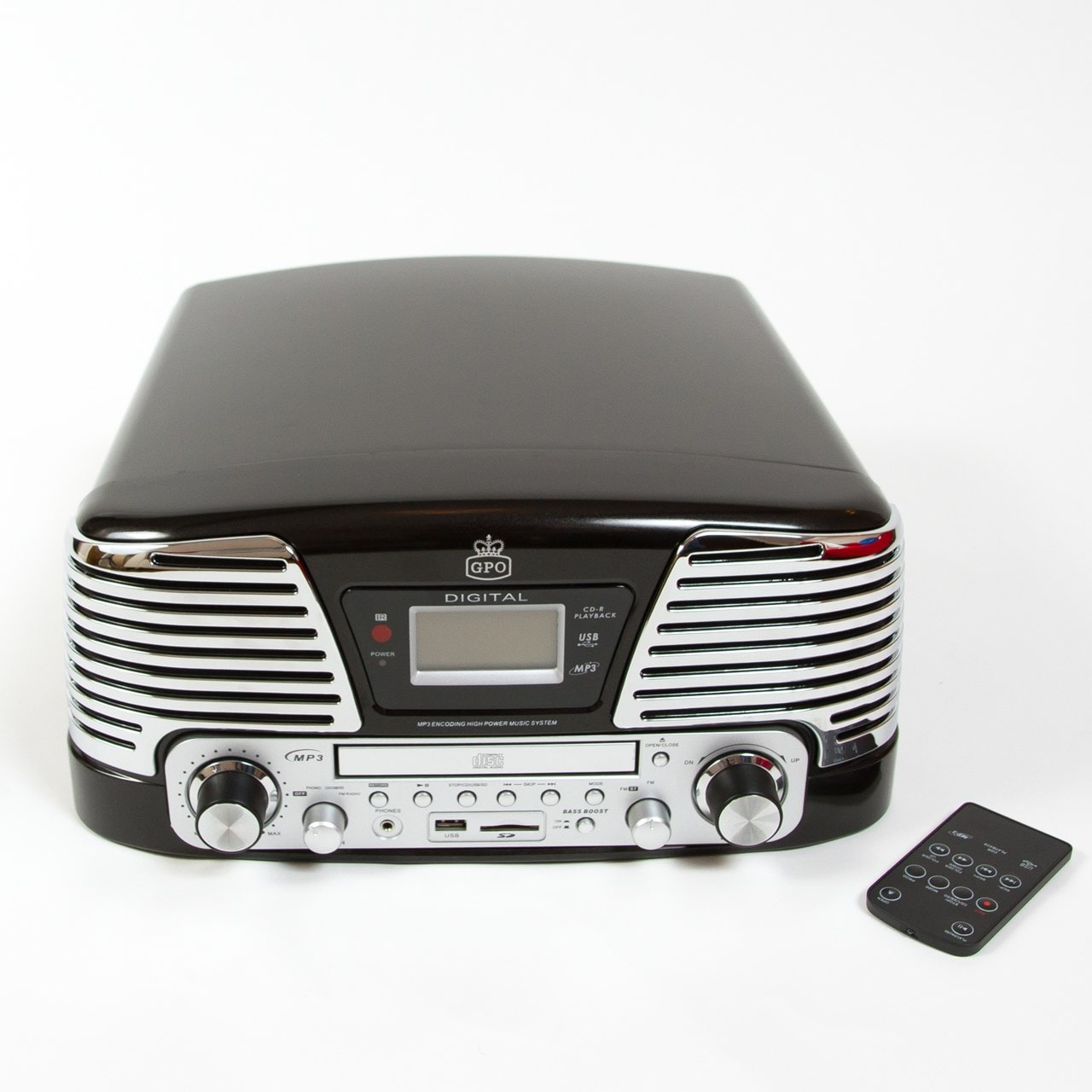 GPO Memphis Black USB Turntable with CD Player & Radio (online only) - 3
