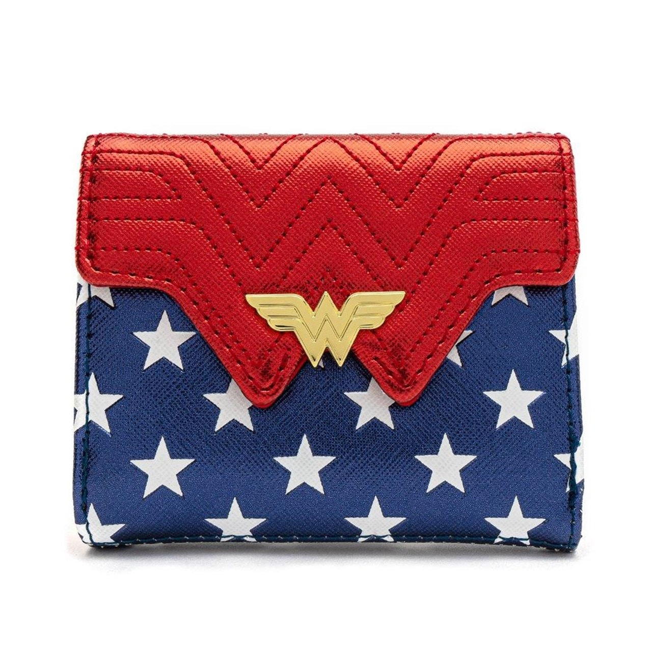 Loungefly X DC Comics Wonder Woman Red White And Blue Flap Wallet - 1