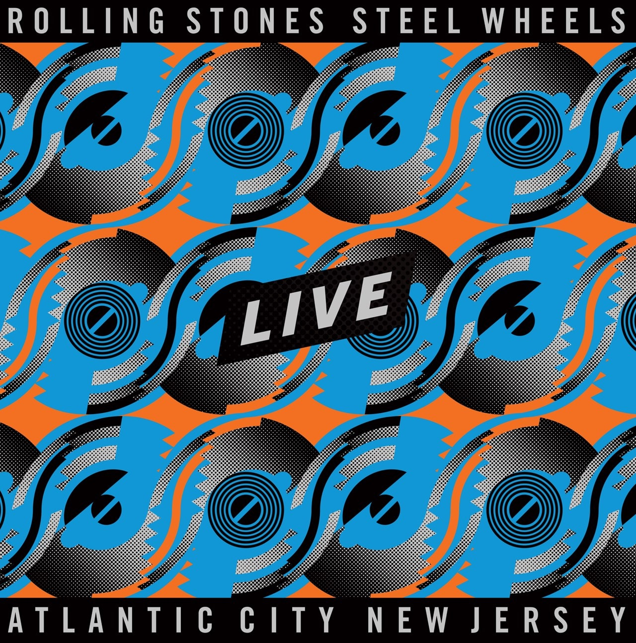 Steel Wheels Live - Atlantic City, New Jersey - Limited Edition Blue & Orange Vinyl - 2