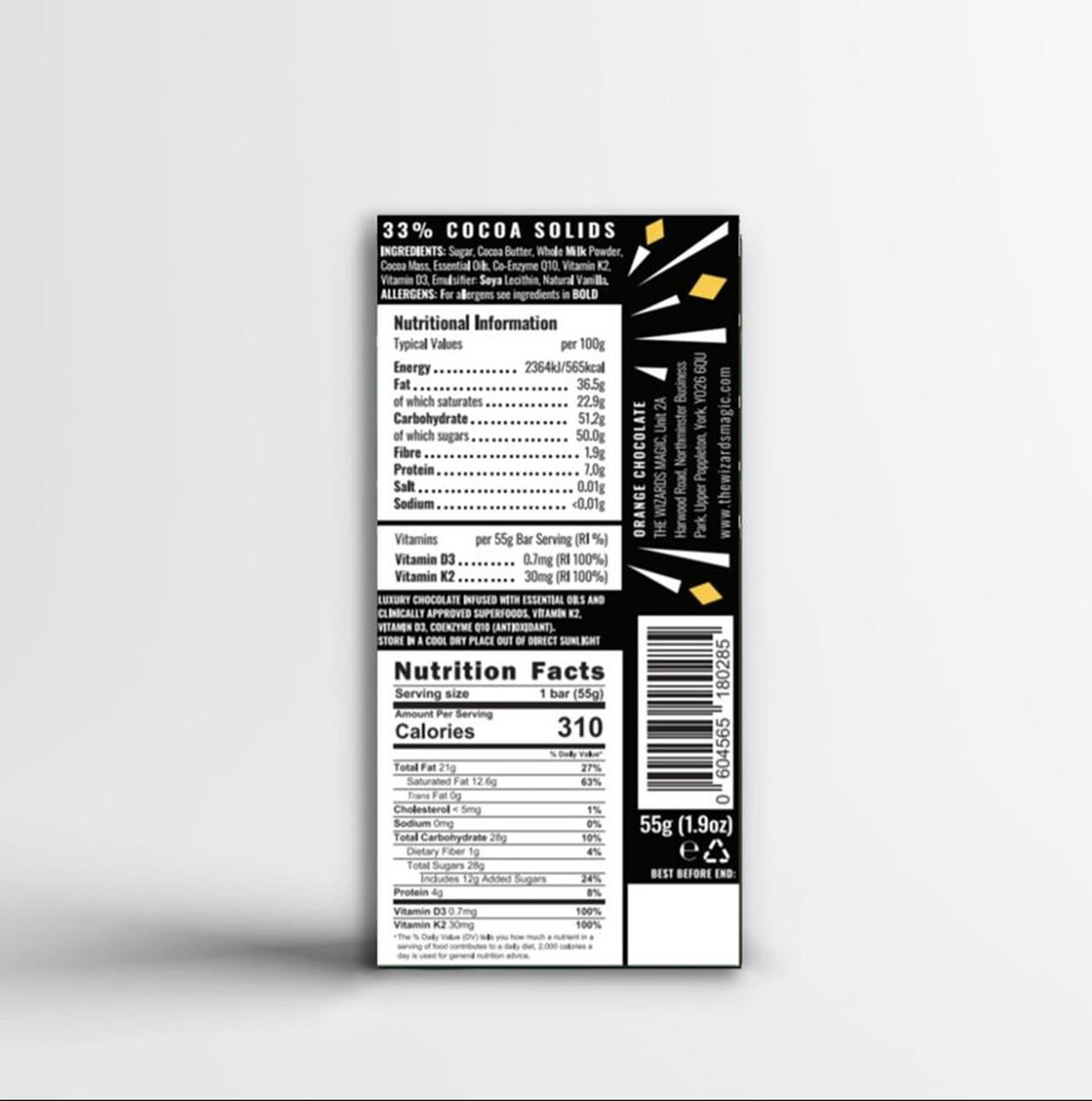 Wizards Magic Chocolate: Immunity Gift Pack: Orange & Caramel (Pack of 4) - 4