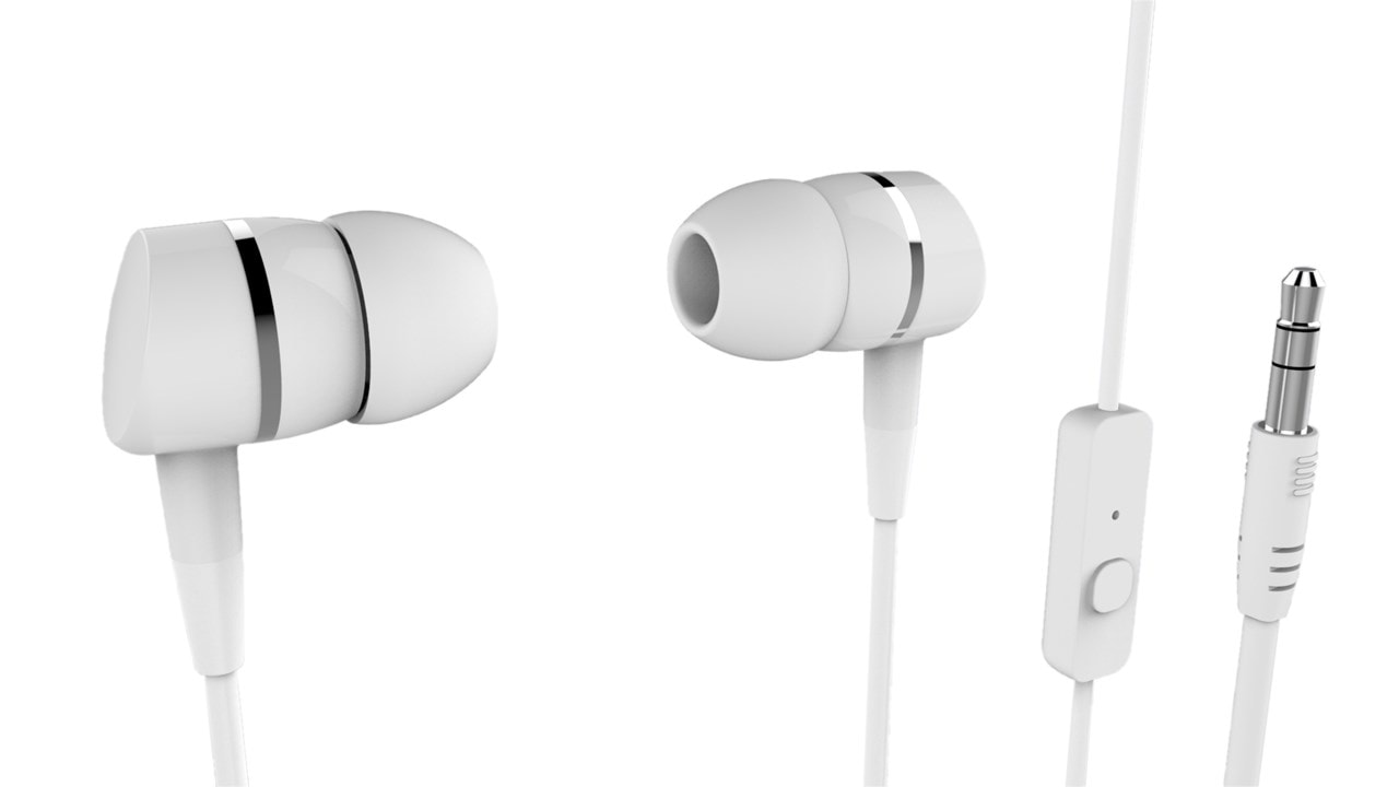 Vivanco Smartsound White Earphones W/Mic - 1