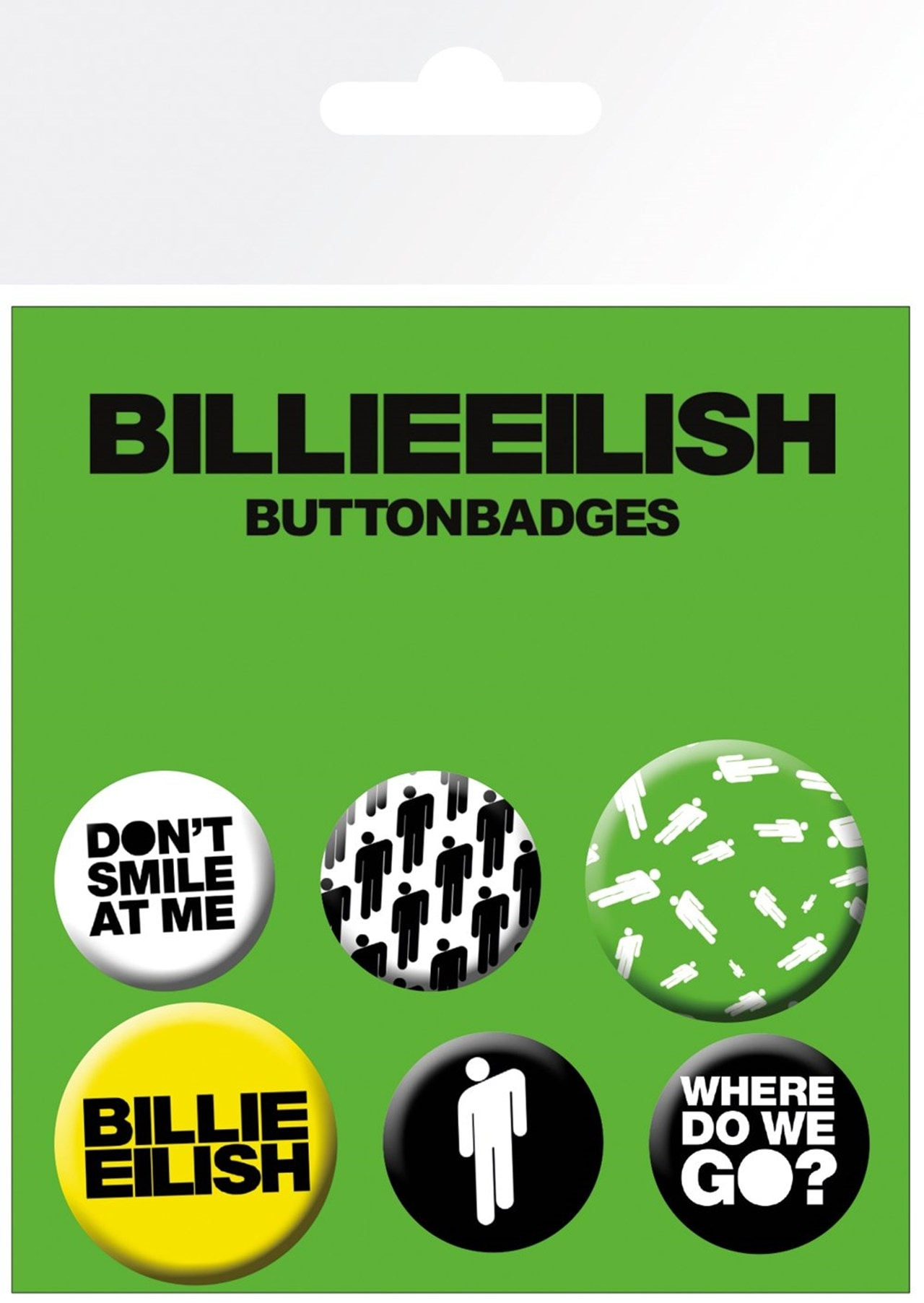 Billie Eilish: Stickman Badge Pack - 1