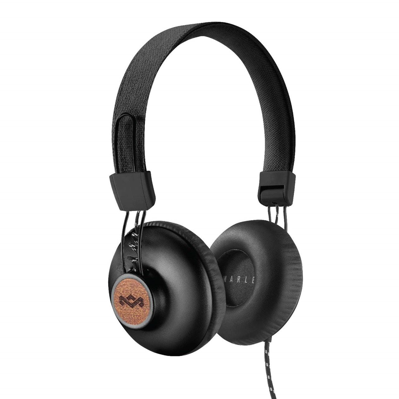 House Of Marley Positive Vibration 2.0 Signature Black Headphones w/Mic - 1