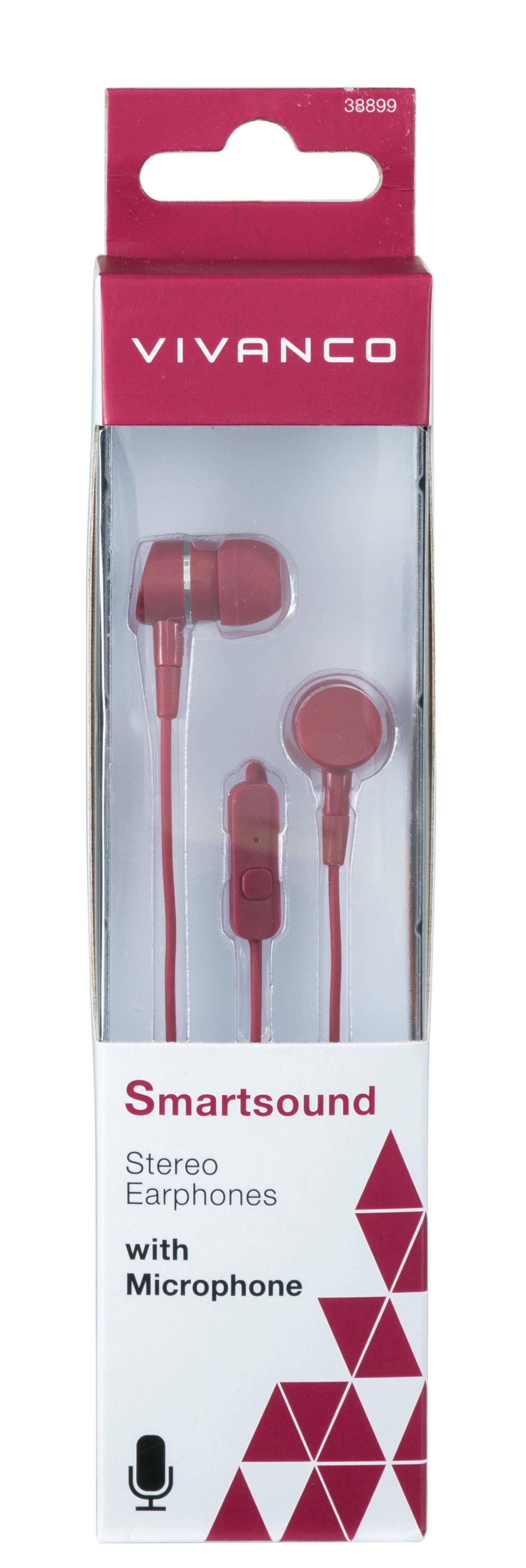 Vivanco Smartsound Berry Earphones W/Mic - 2
