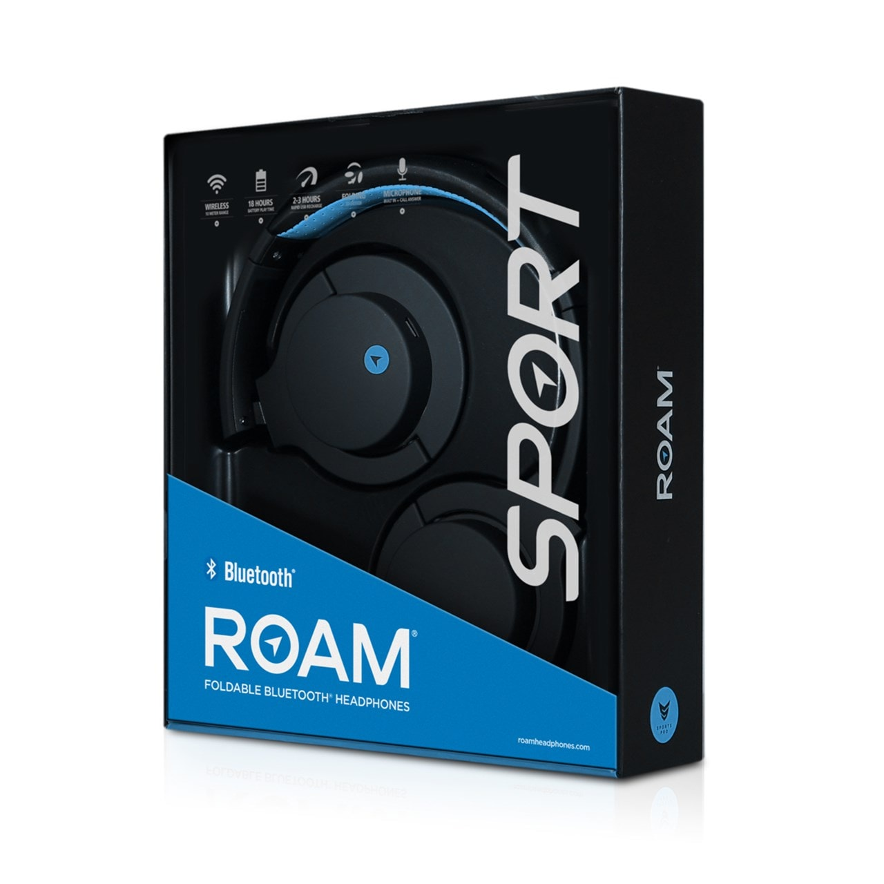 Roam Sports Pro Blue Bluetooth Headphones - 2