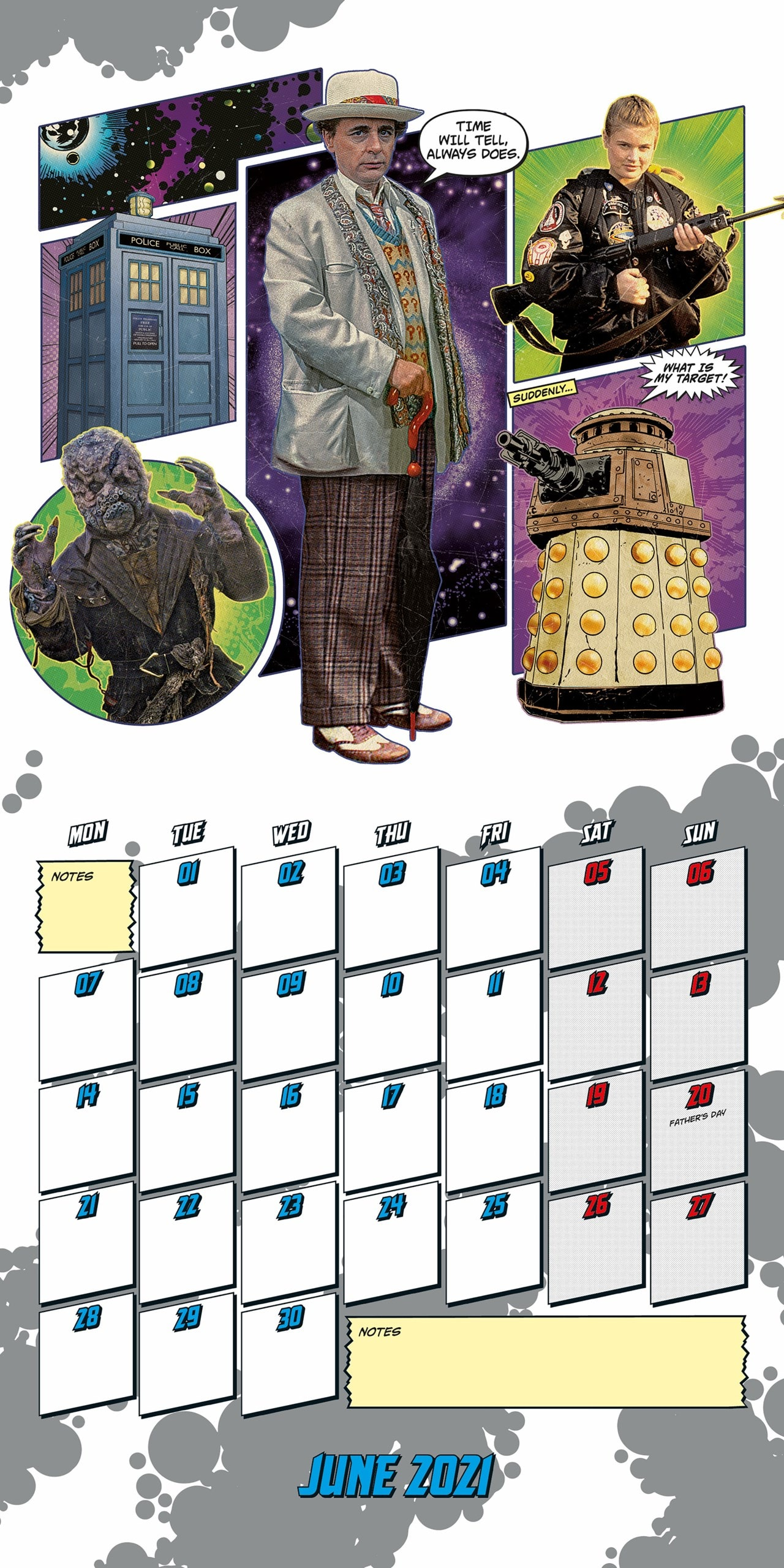 Doctor Who Classic: Square 2021 Calendar - 2