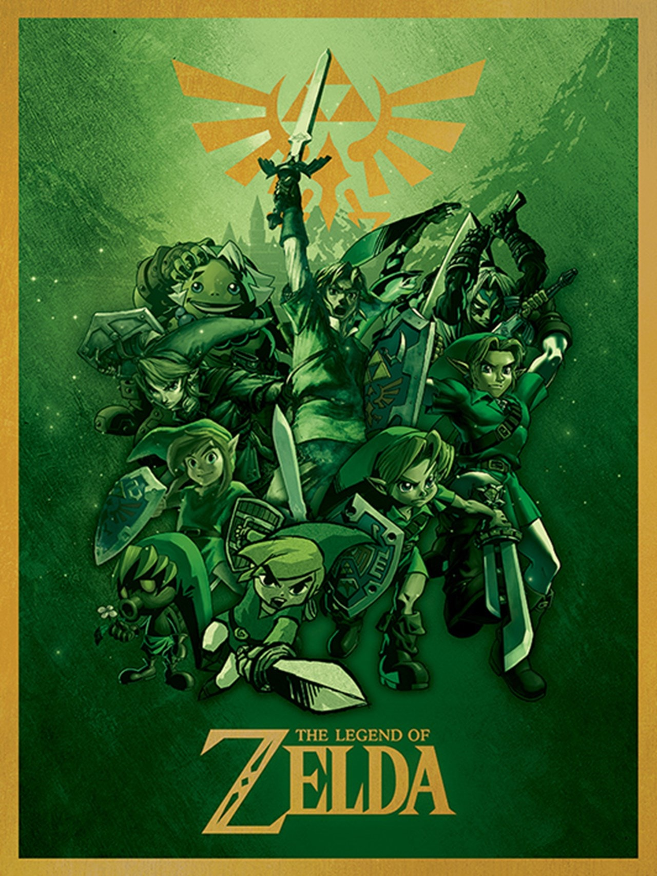 The Legend Of Zelda: Link Fighting Canvas Print - 1