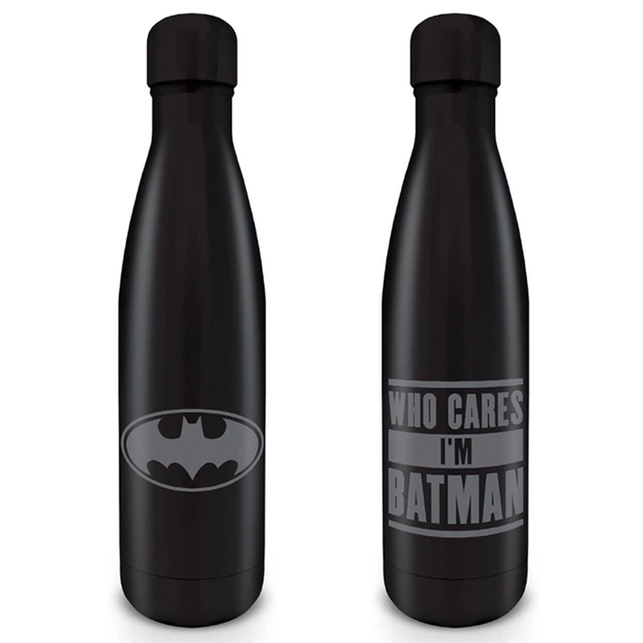 Batman: Who Cares I'm Batman Metal Drink Bottle - 1