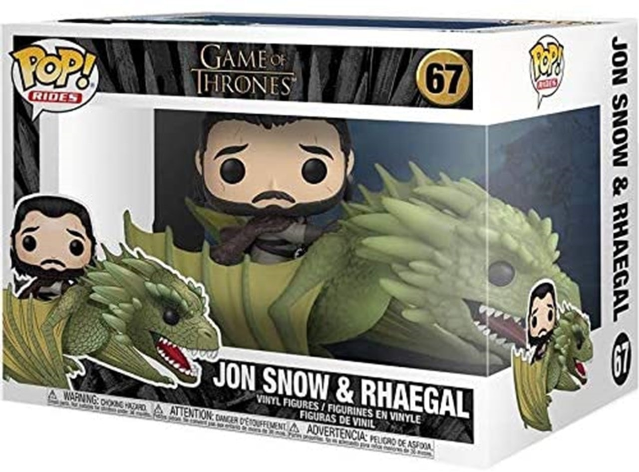 Jon Snow with Rhaegal (67) Game of Thrones: Pop Vinyl Rides - 3