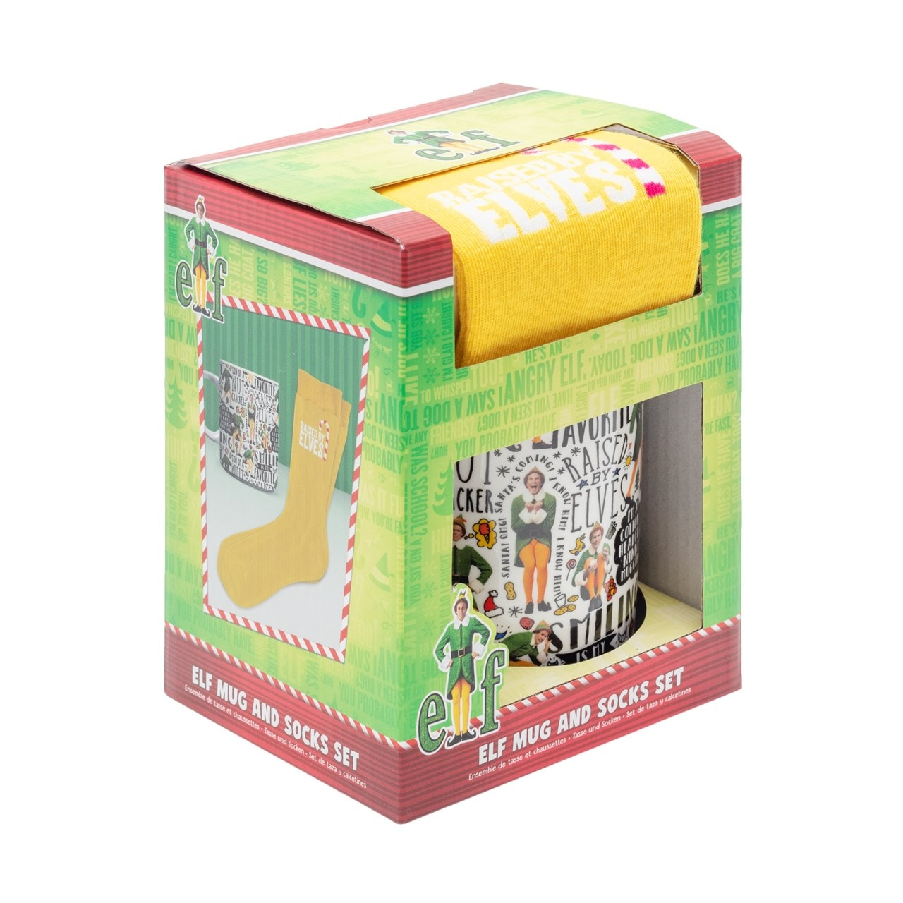 Elf Mug & Socks Gift Set - 3