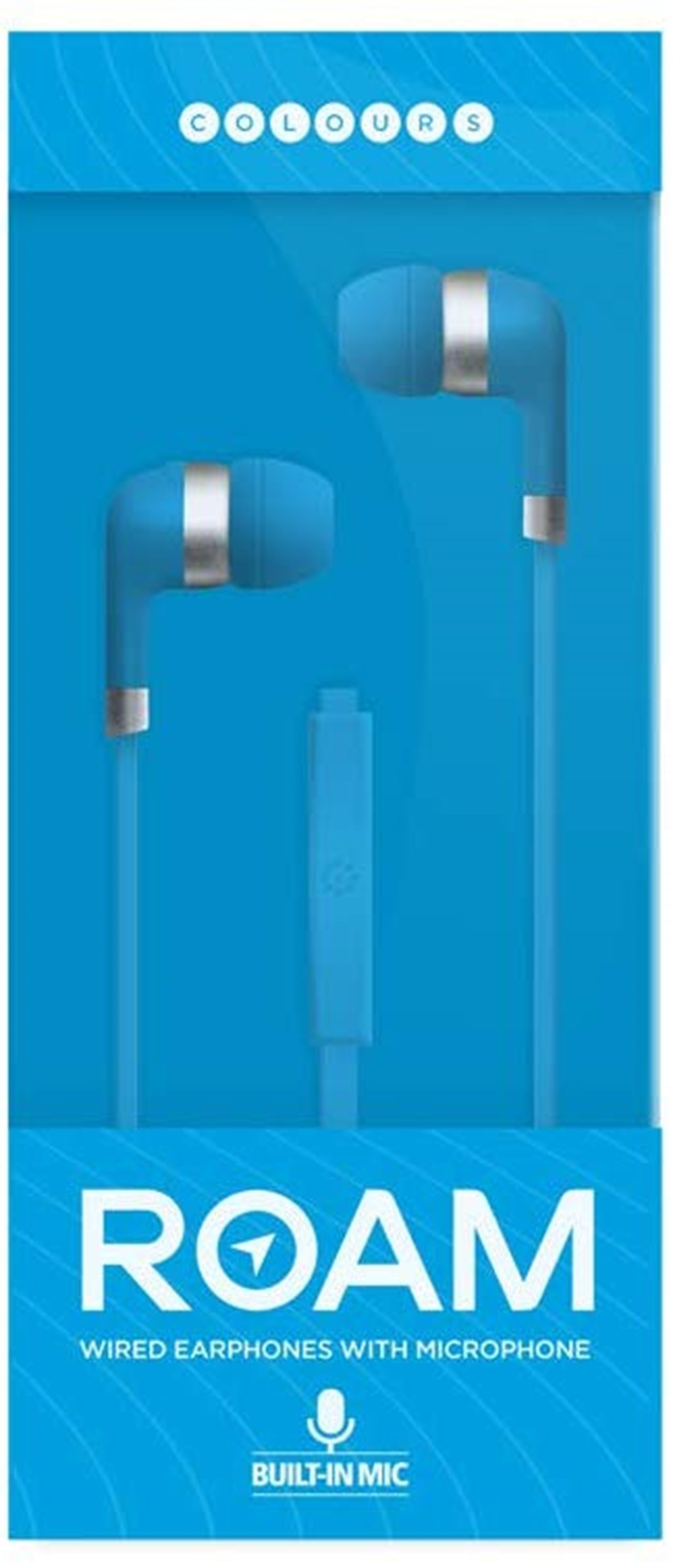 Roam Colours Plus Blue Earphones W/Mic - 1