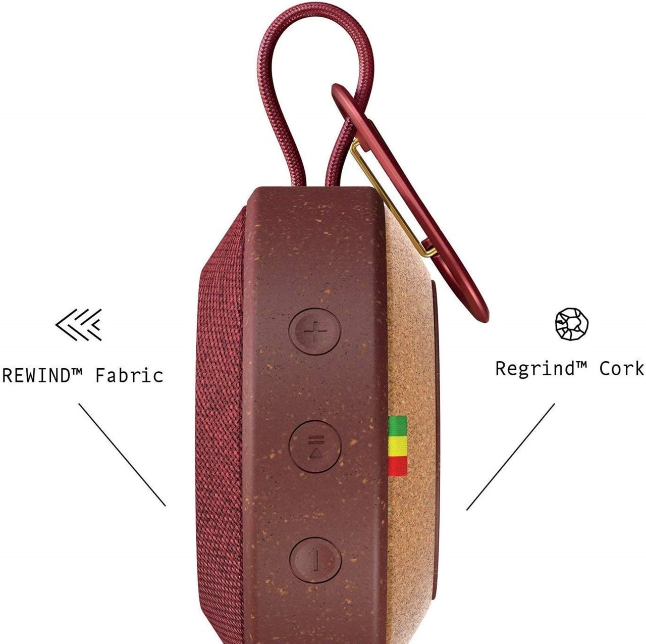 House Of Marley No Bounds Red Bluetooth Speaker - 2