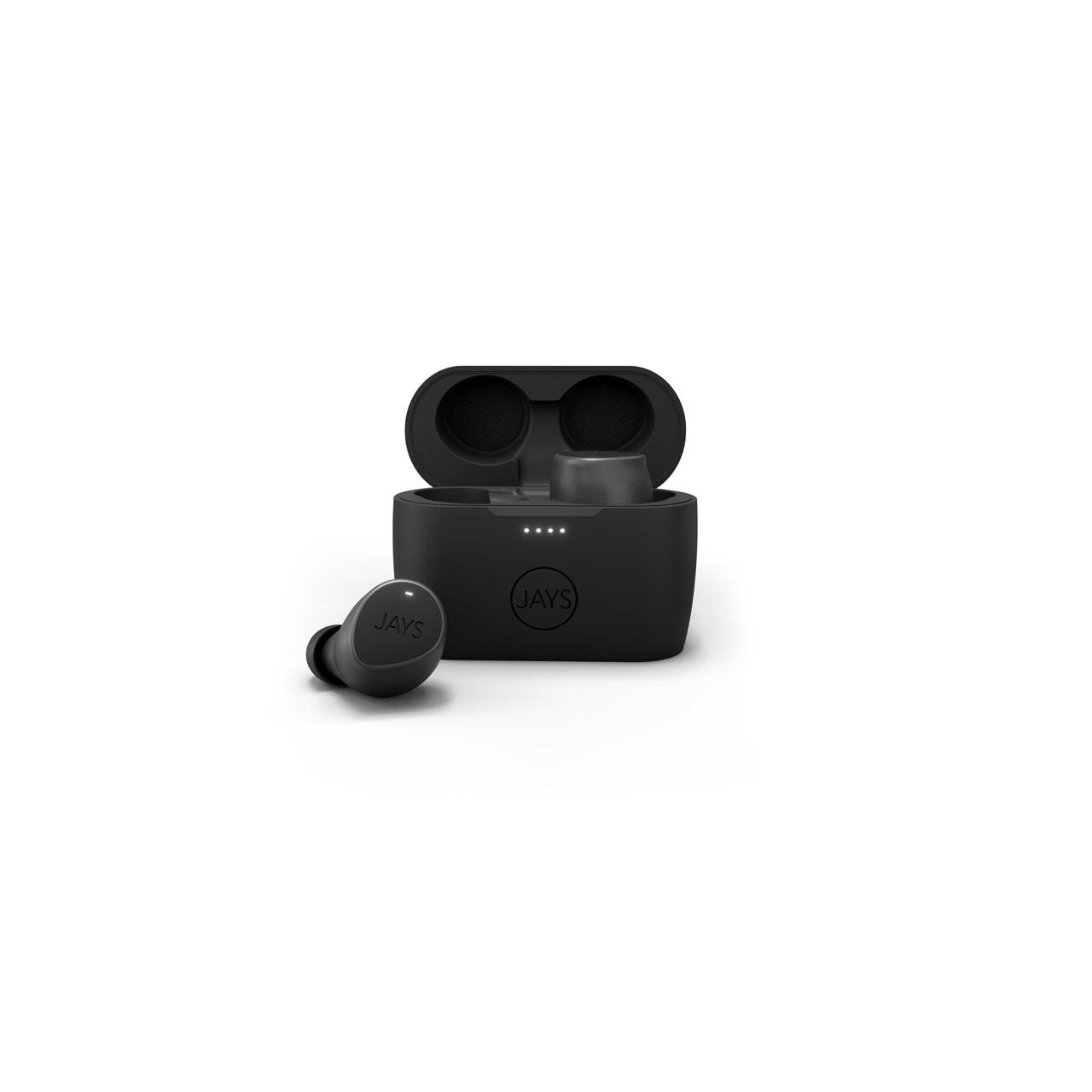 Jays M-Seven Black True Wireless Bluetooth Earphones - 1