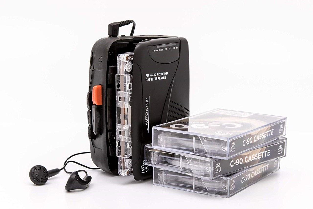 GPO Retro Black Portable Cassette Player - 1