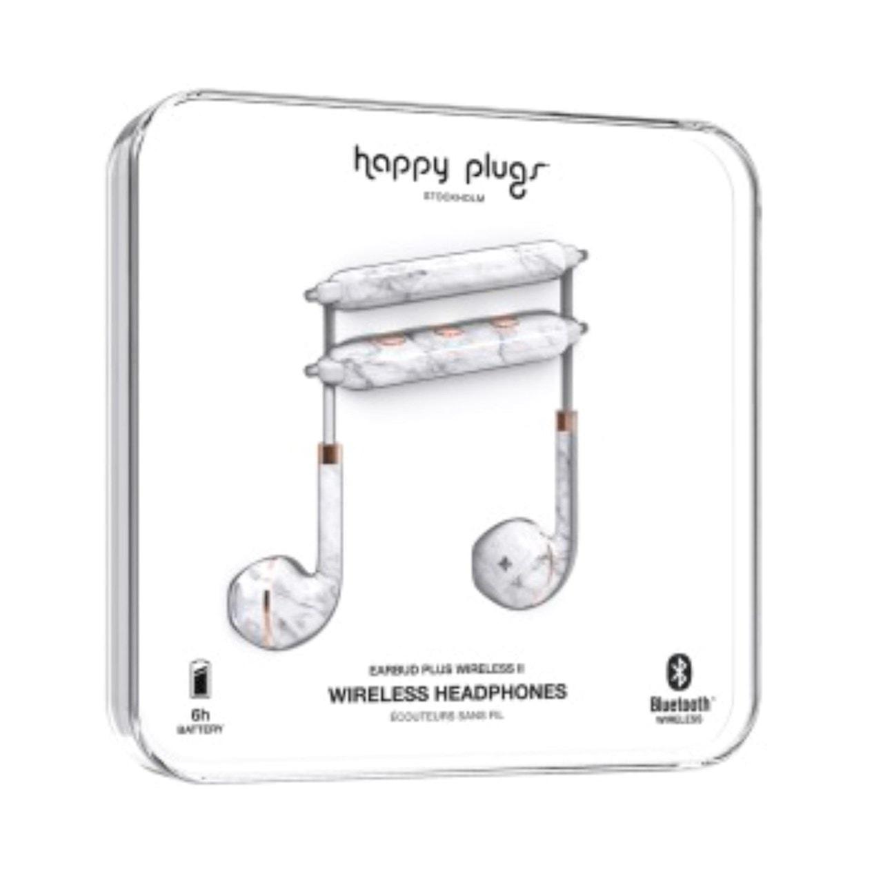 Happy Plugs Wireless II White Marble Bluetooth Earphones - 2