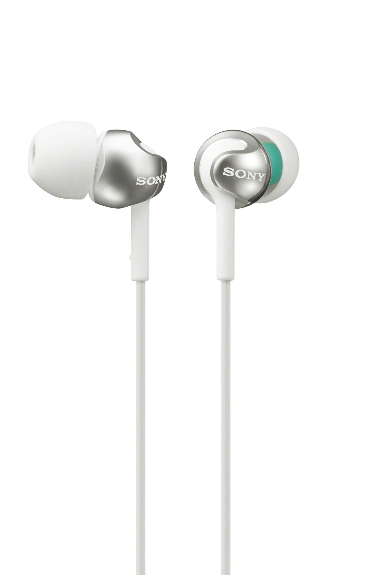 Sony MDREX110 White Earphones W/Mic - 1