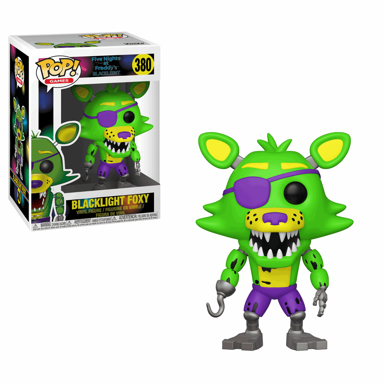 Pop Vinyl: Black Light Foxy (380): Five Nights At Freddy's FNAF - 1