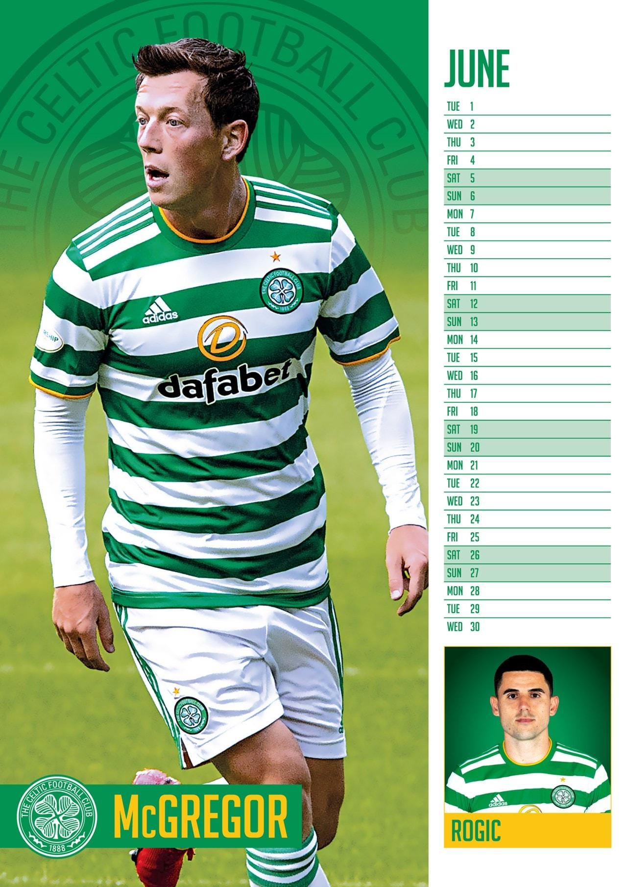 Celtic FC: Football A3 2021 Calendar - 2