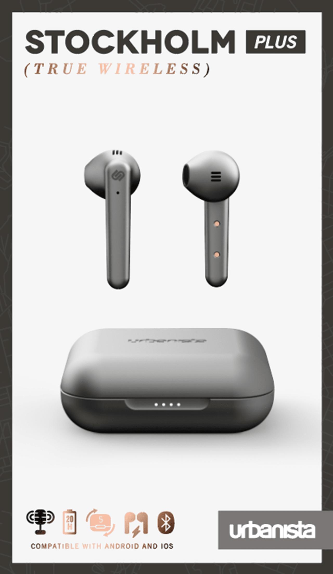 Urbanista Stockholm Plus Titanium True Wireless Bluetooth Earphones - 4