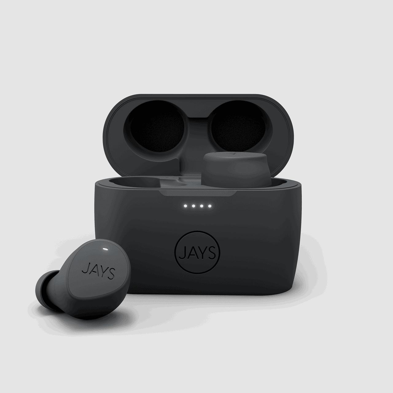 Jays M-Five Grey True Wireless Bluetooth Earphones - 1