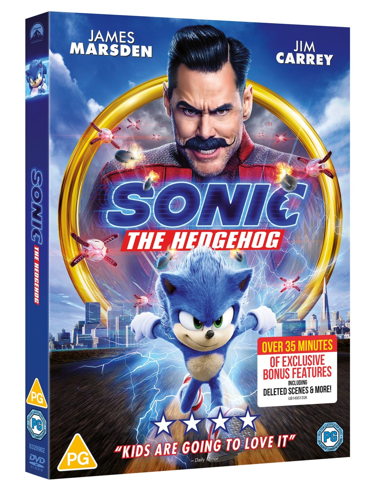 Sonic The Hedgehog Dvd Free Shipping Over 20 Hmv Store
