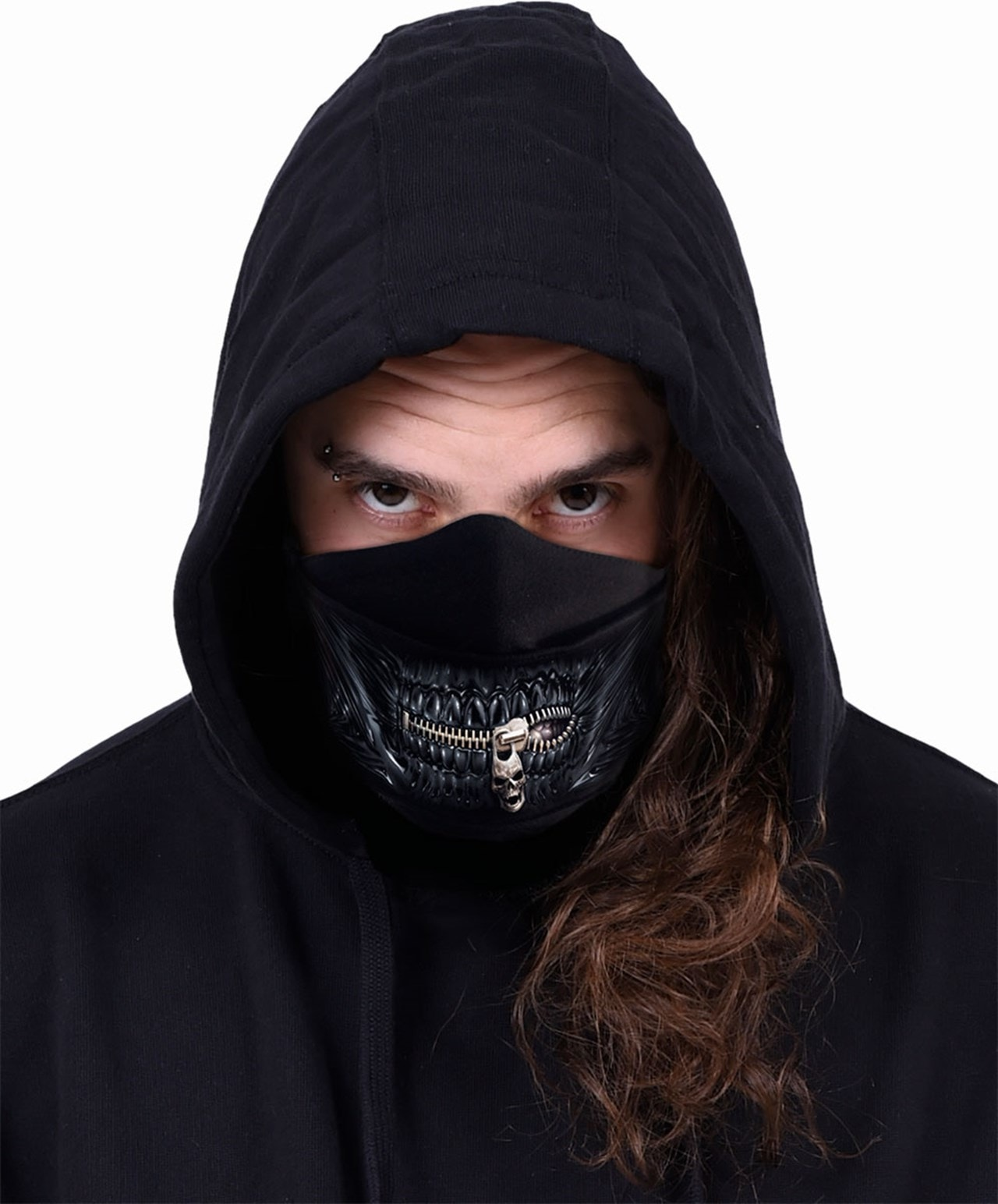 Zipped Mouth Cotton Face Covering - 2