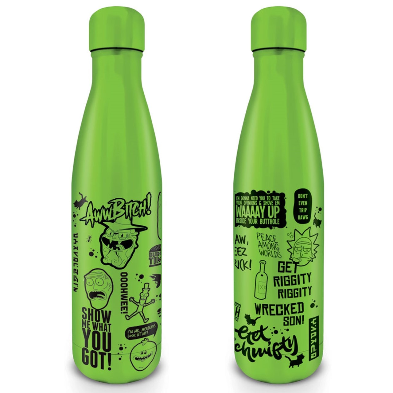 Rick & Morty: Quotes Metal Drink Bottle - 1