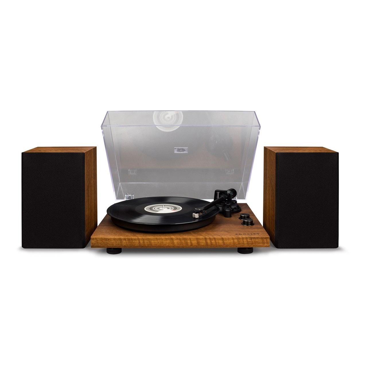 Crosley C62 Walnut Turntable & Speakers - 1