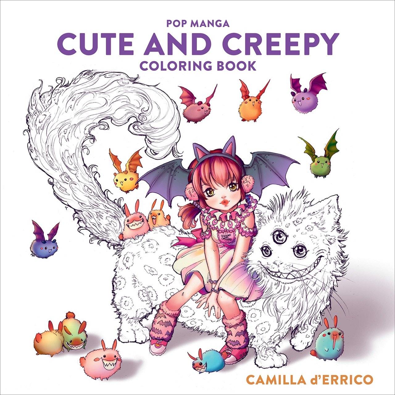 Pop Manga: Cute and Creepy Colouring Book - 1