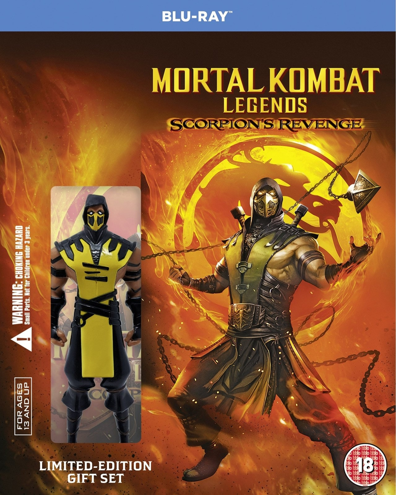 Mortal Kombat Legends Scorpion S Revenge Limited Edition Minifig Blu Ray Free Shipping Over 20 Hmv Store