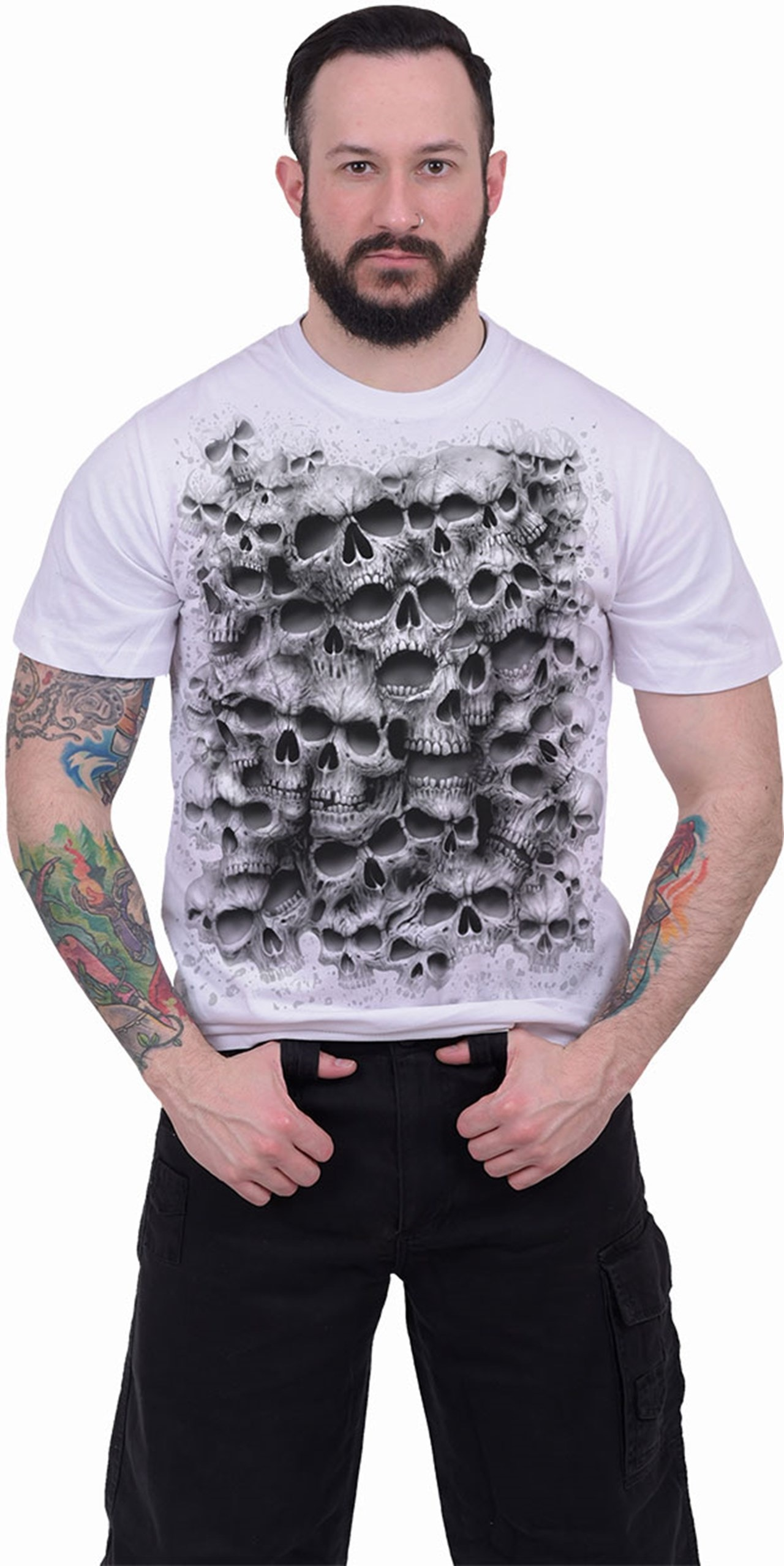 Spiral: White Twisted Skulls (Small) - 3