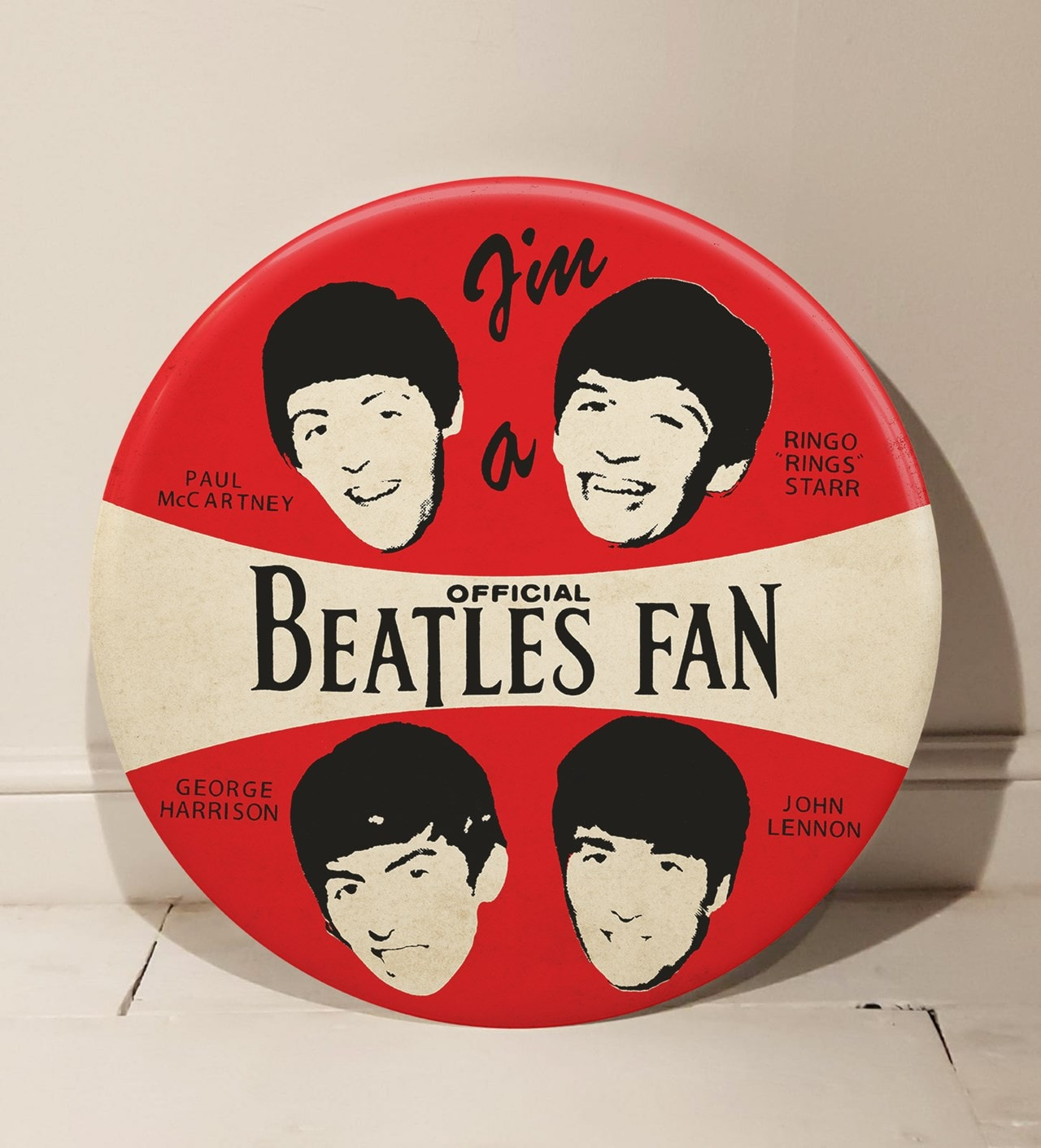 Beatles: 1964: Limited Edition Giant 3D Pin Badge Wall Art By Tape Deck Art - 1