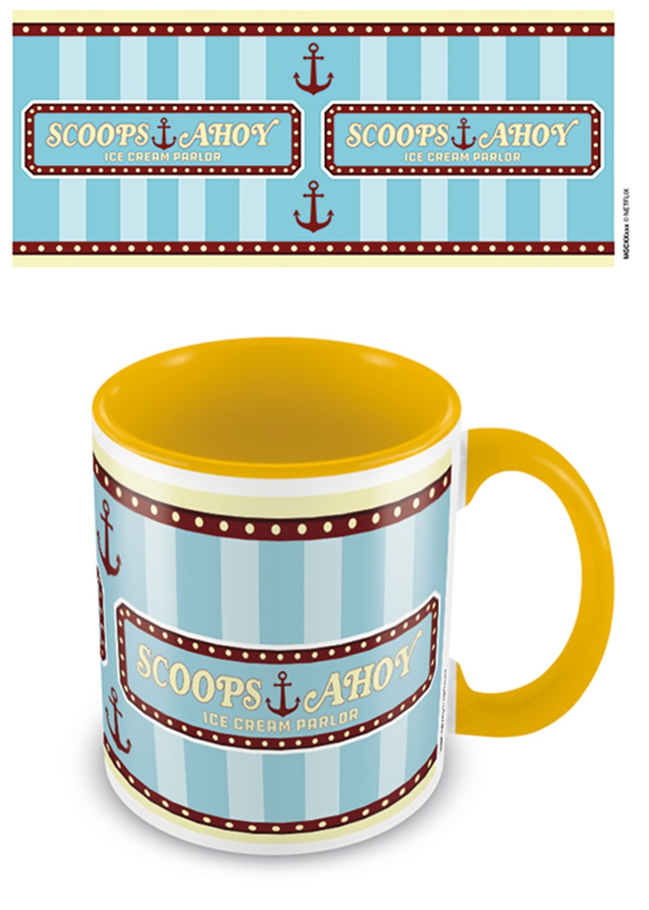 Coloured Inner Mug: Stranger Things: Scoops Ahoy Yellow - 1