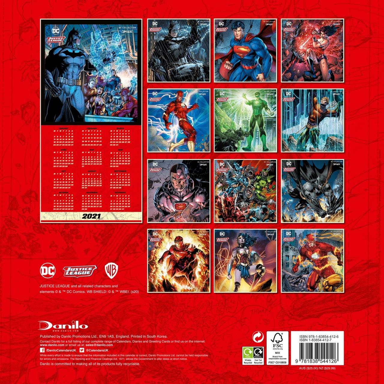 DC Comics Official Square 2021 Calendar - 3