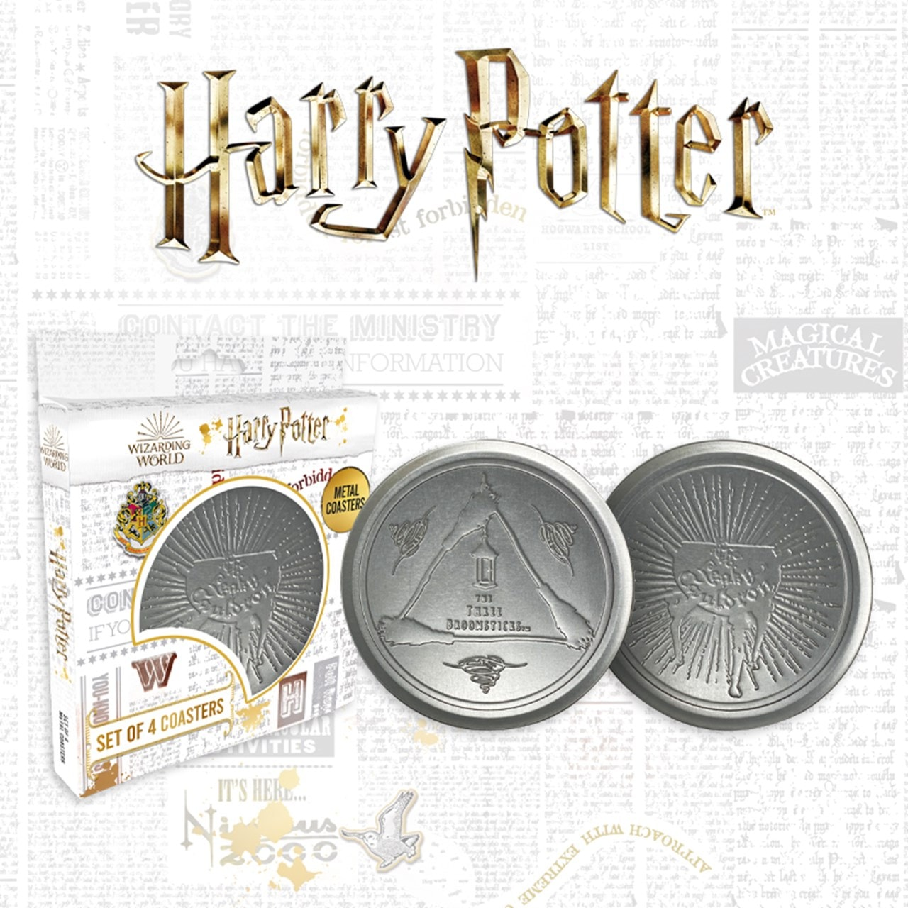 Harry Potter: Metal Embossed Coaster Set - 1