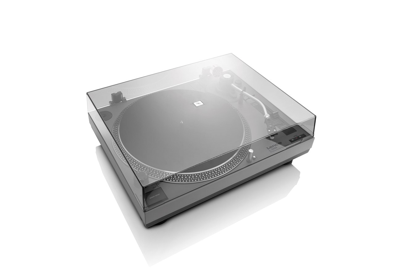 Lenco LS-3808 Matte Grey Direct Drive Turntable - 3
