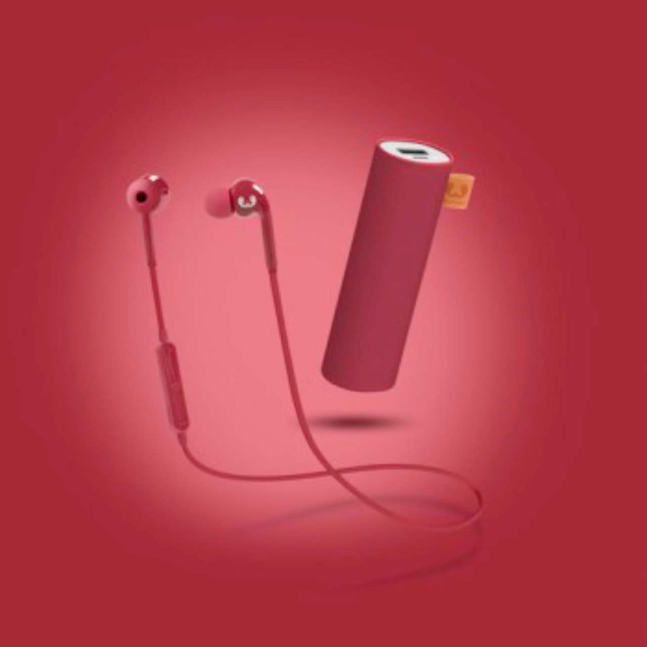 Fresh N Rebel Gift Pack Ruby: Vibe Bluetooth Earphones & 3000Mah Power Bank - 2