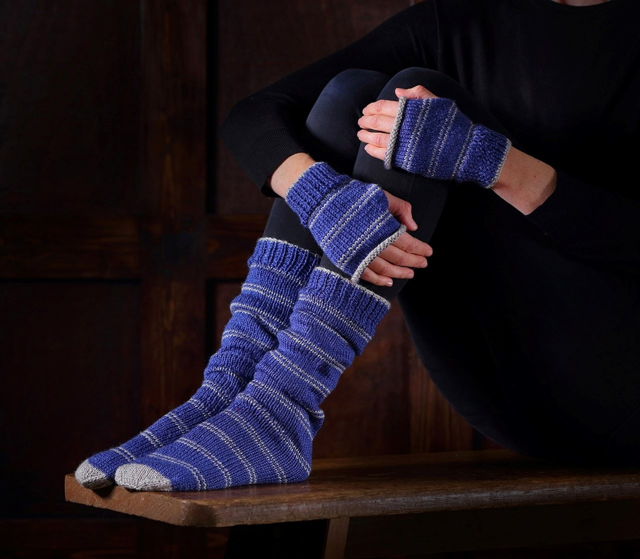 Ravenclaw Mittens & Slouch Socks: Harry Potter Knit Kit - 1