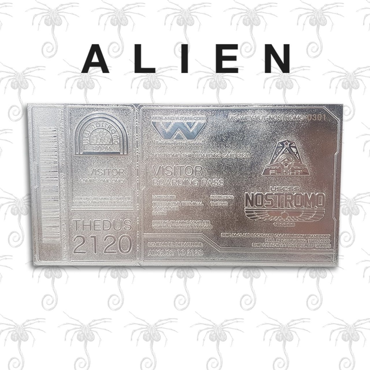 Alien: Silver Plated Ticket Metal Replica (online only) - 1