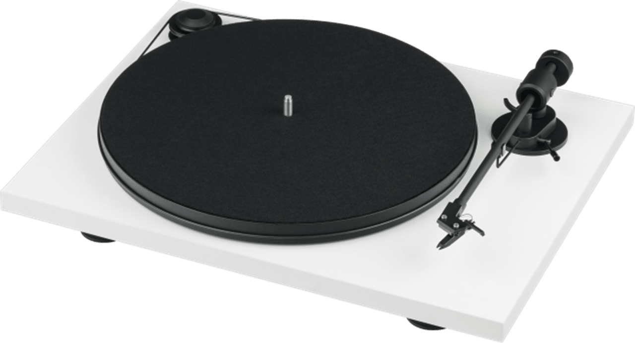 Pro-Ject Primary E Phono White Turntable and Jamo DS4 Speakers - 1