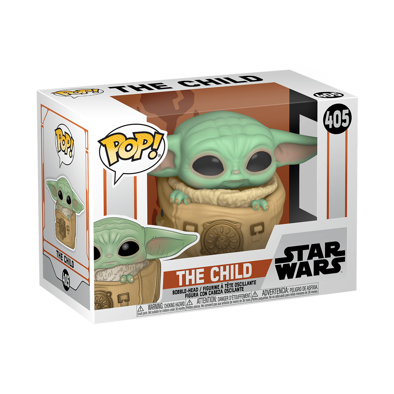 The Child (Baby Yoda) in Bag (405) The Mandalorian Star Wars Pop Vinyl - 2