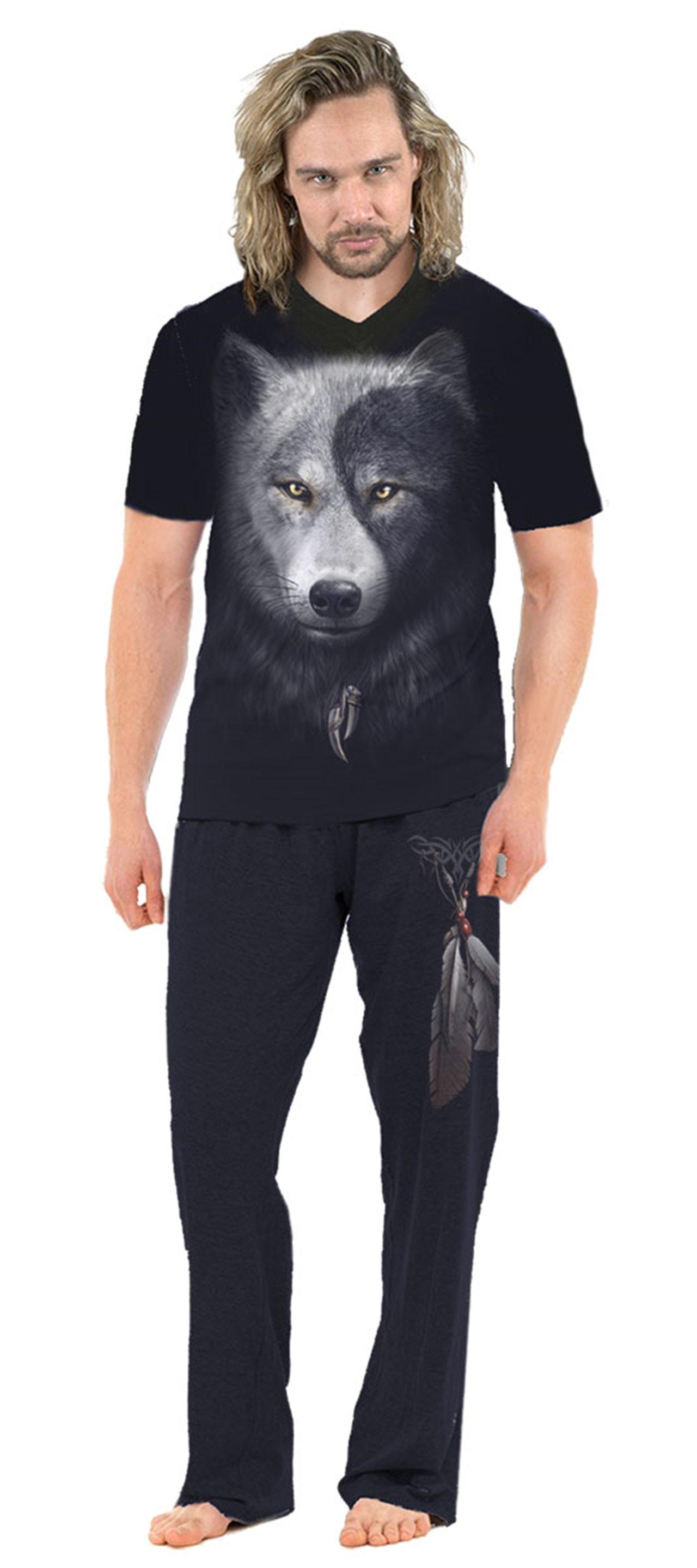 Wolf Chi 4-Piece Men's Pyjama Set (Extra Large) - 3
