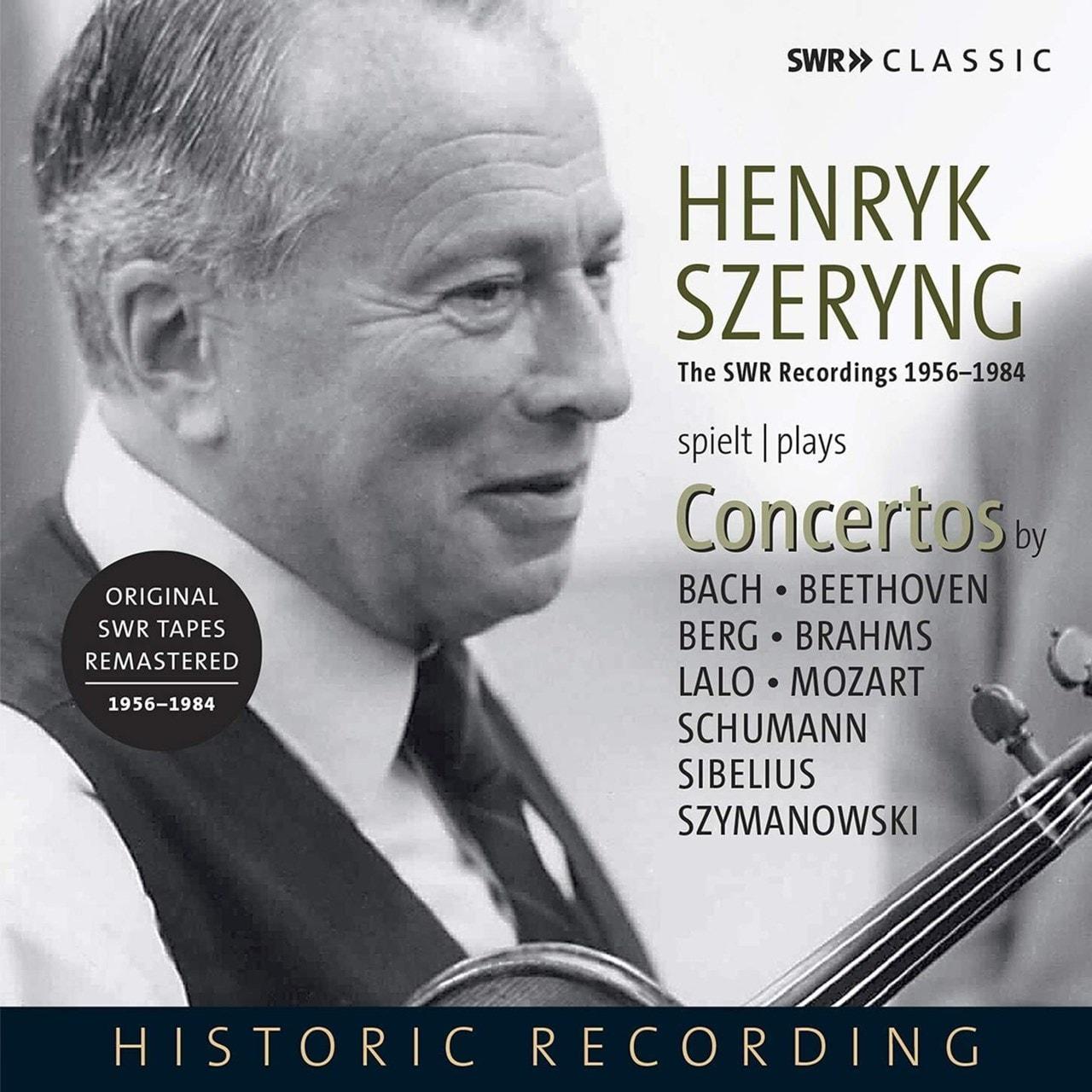 Henryk Szeryng Plays Concertos By Bach/Beethoven/Berg/Brahms/... - 1