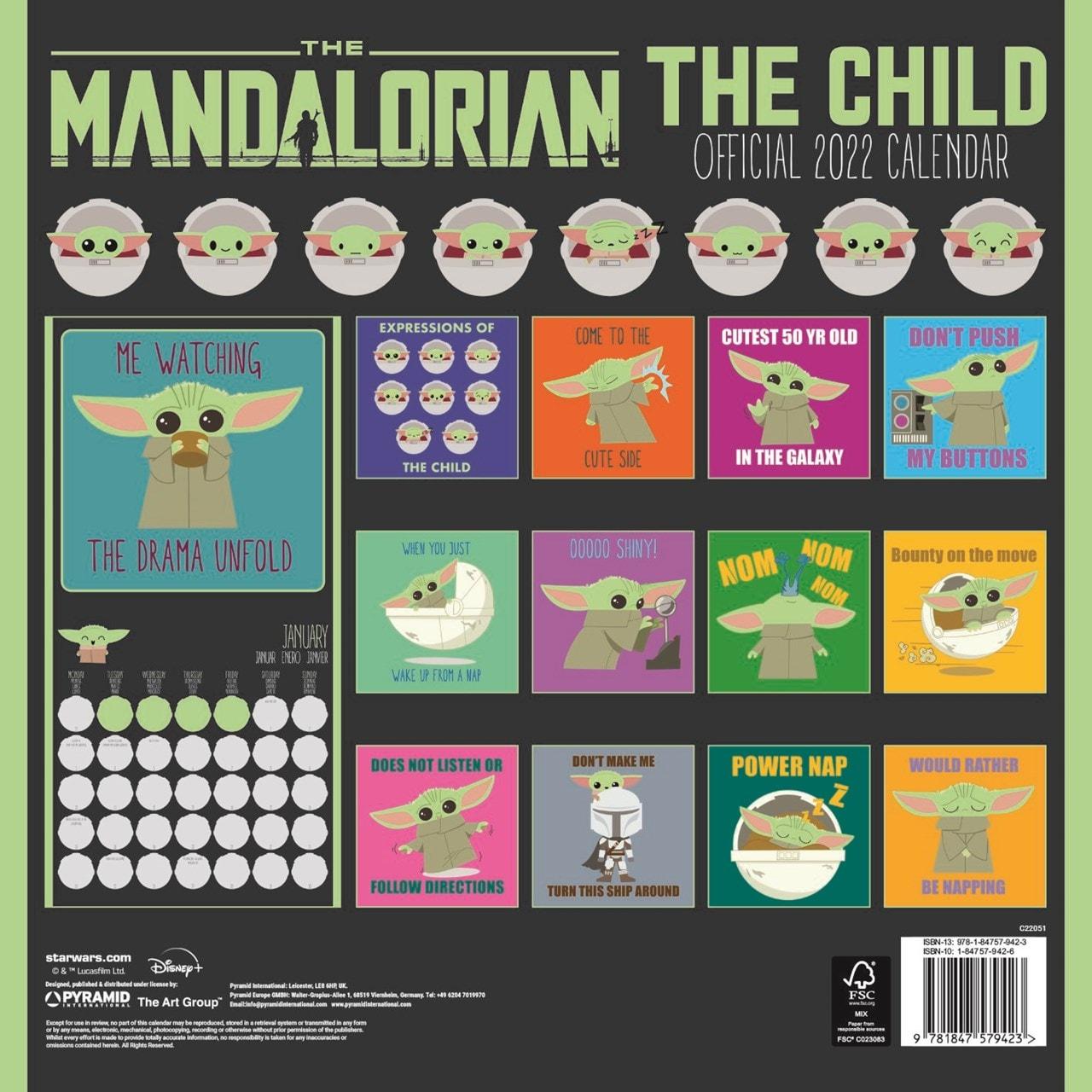 The Child: The Mandalorian: Star Wars (hmv Exclusive) Square 2022 Calendar - 2