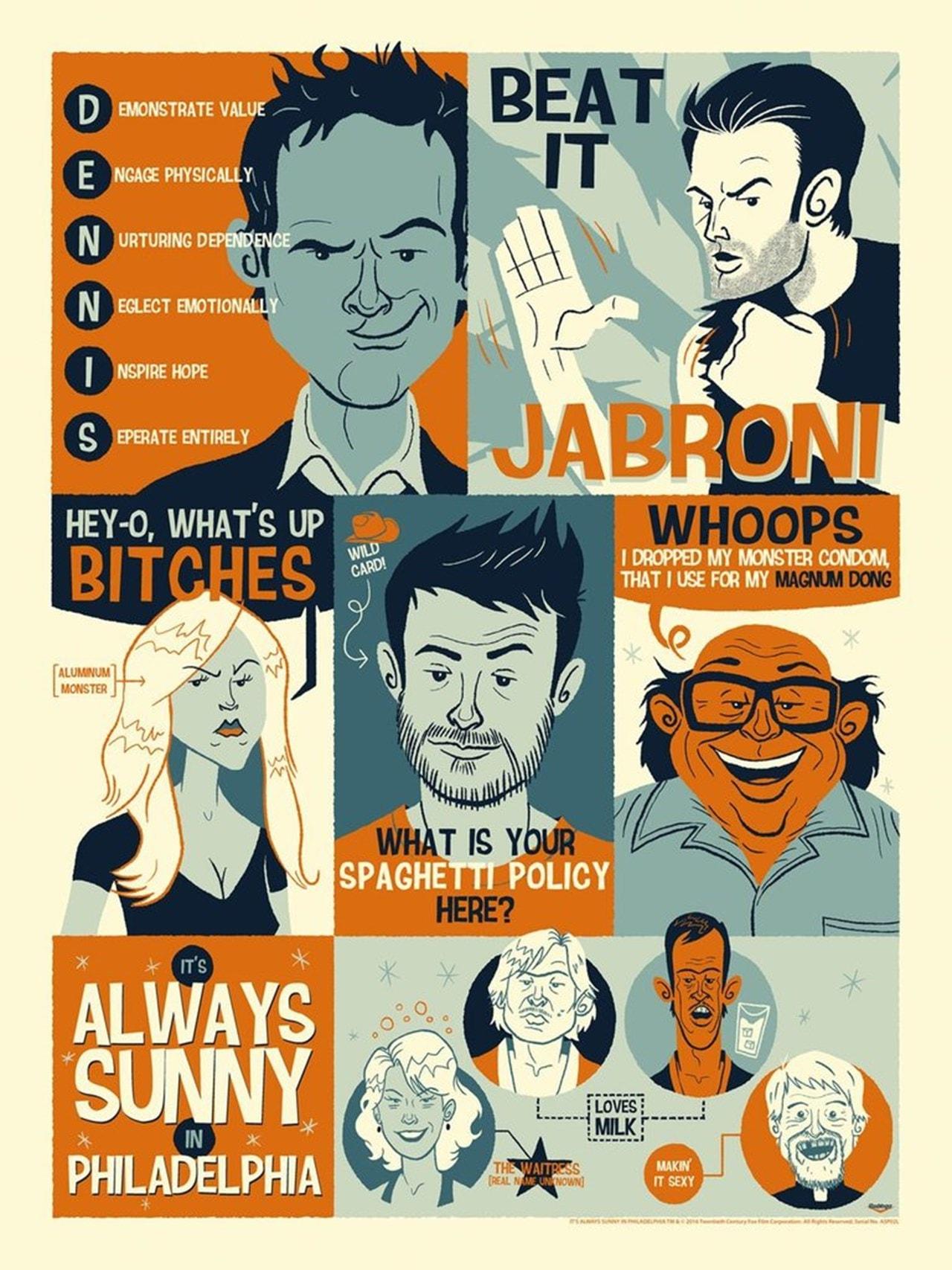 It's Always Sunny In Philadelphia: Always Quoting Limited Edition Art Print - 1