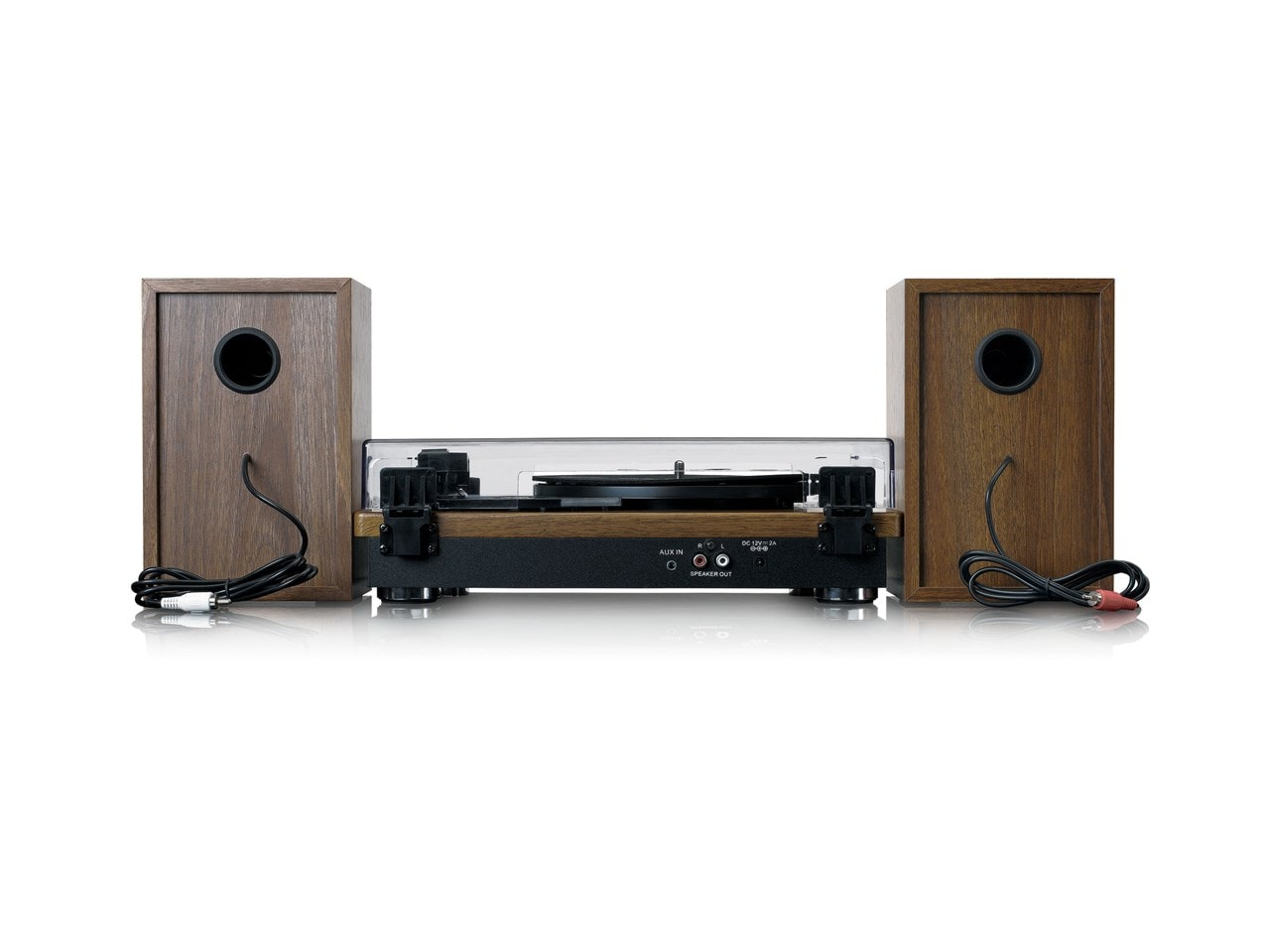 Lenco LS100 Wood Turntable & Speakers - 2