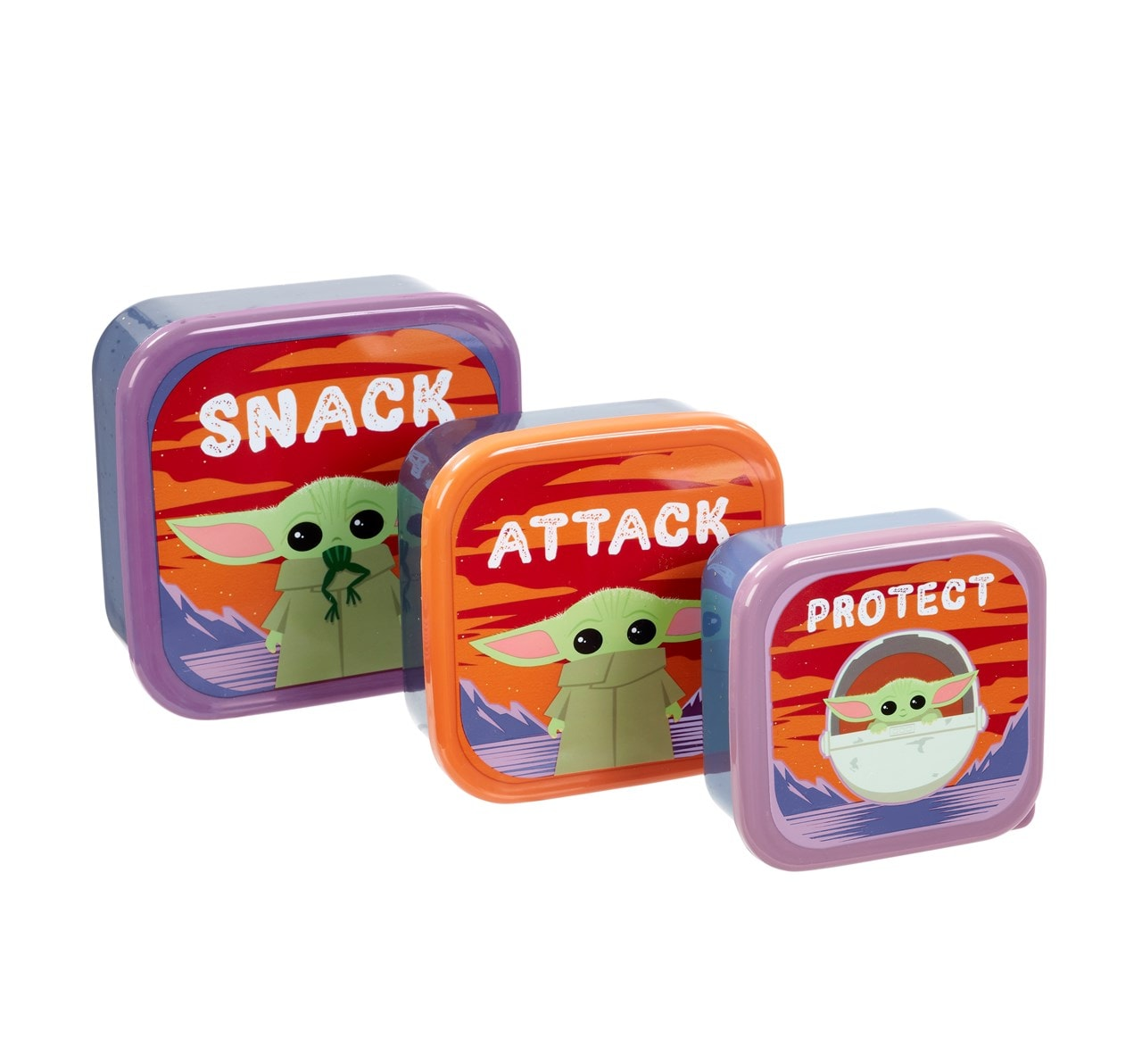 The Child: Snack, Attack, Protect: The Mandalorian Lunch Box Storage Set - 1