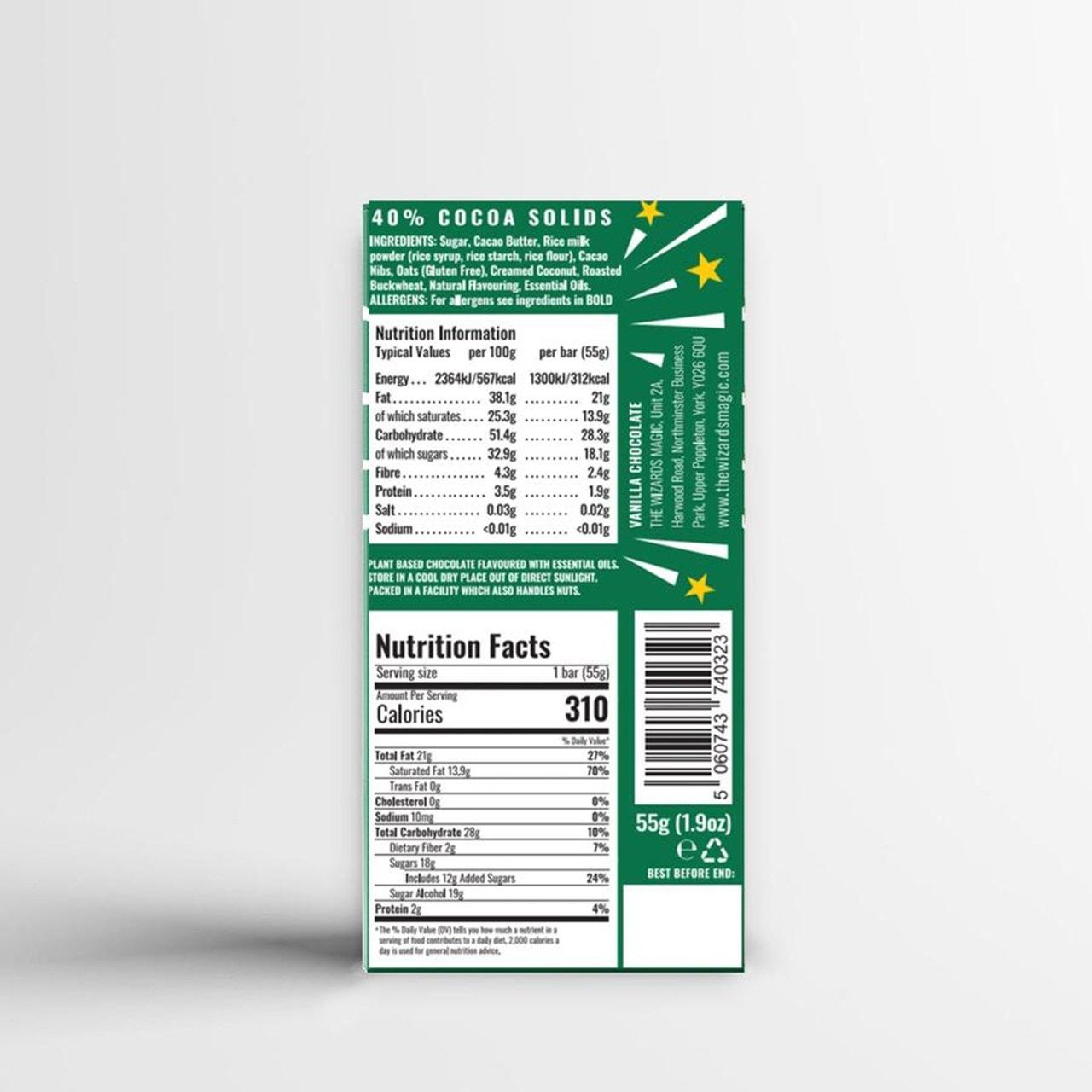 Wizards Magic Chocolate: Plant Based Gift Pack: Orange & Vanilla (Pack of 4) - 6