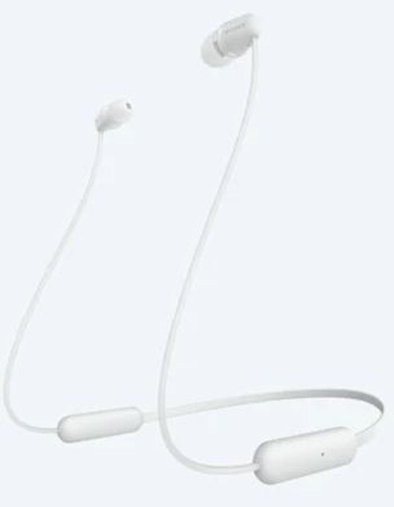 Sony WI-C200 White Bluetooth Earphones - 1